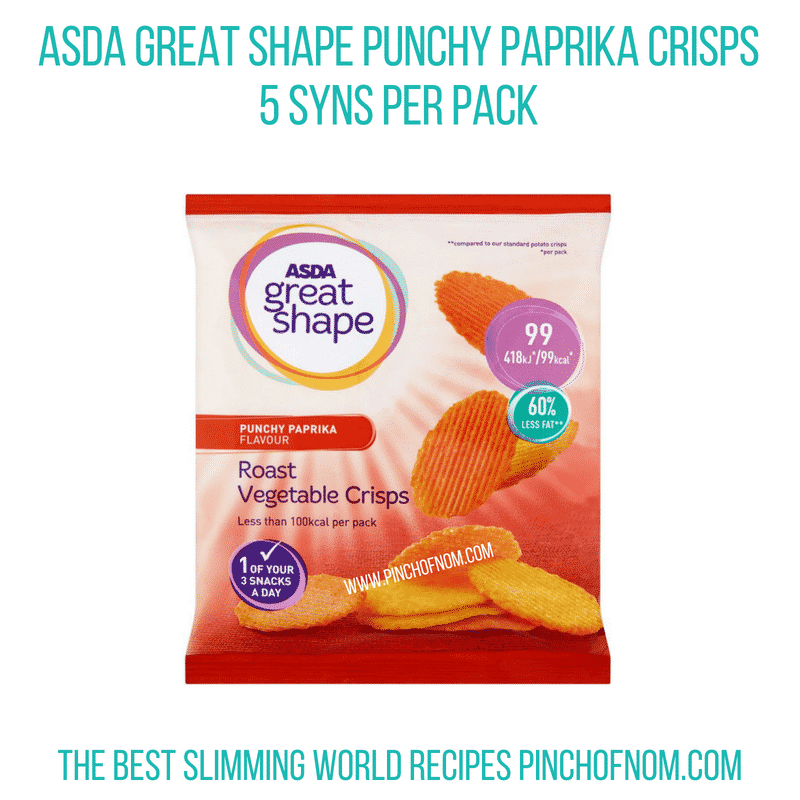 Asda Great Shape Crisps - Pinch of Nom Slimming World Shopping Essentials