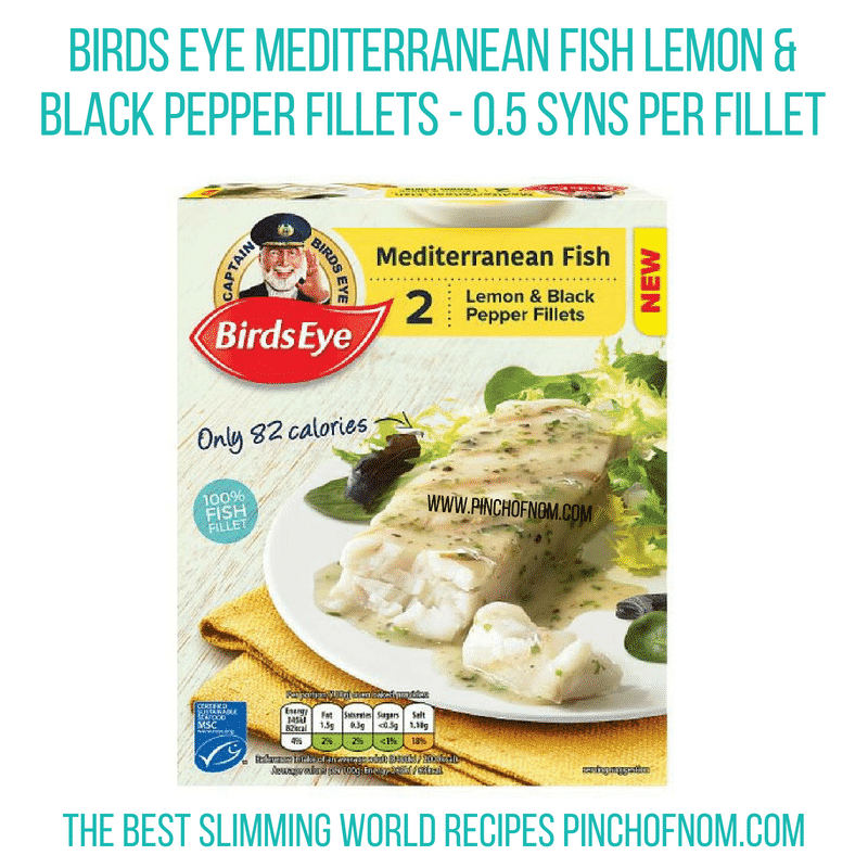 Birds Eye Lemon Pepper fish - Pinch of Nom Slimming World Shopping Essentials