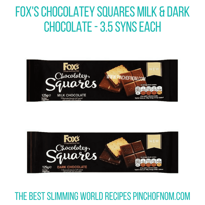 Fox's chocolatey squares - Pinch of Nom Slimming World Shopping Essentials
