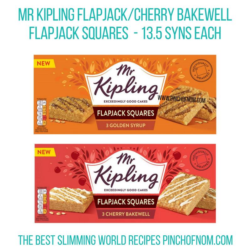Mr Kipling Flapjacks - Pinch of Nom Slimming World Shopping Essentials