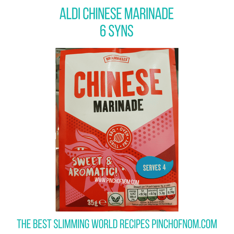 Aldi marinade - Pinch of Nom Slimming World Shopping Essentials