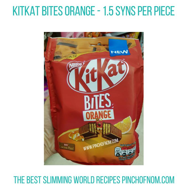 KitKat Bites orange - Pinch of Nom Slimming World Shopping Essentials