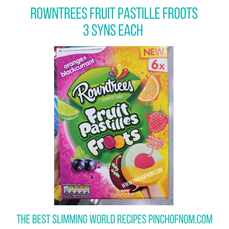 Rowntrees Froots - Pinch of Nom Slimming World Shopping Essentials