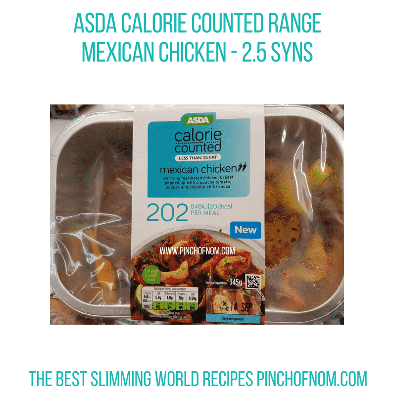 Asda Calorie Counted Range - Pinch of Nom Slimming World Shopping Essentials