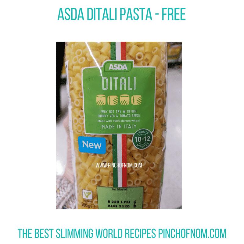 Asda Pasta - Pinch of Nom Slimming World Shopping Essentials