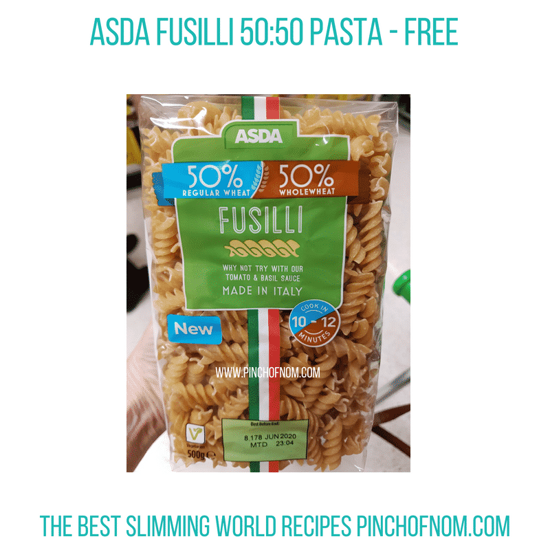 Asda 50:50 Fusilli - Pinch of Nom Slimming World Shopping Essentials