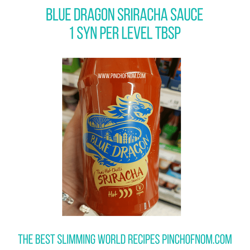 Blue Dragon Sriracha - Pinch of Nom Slimming World Shopping Essentials