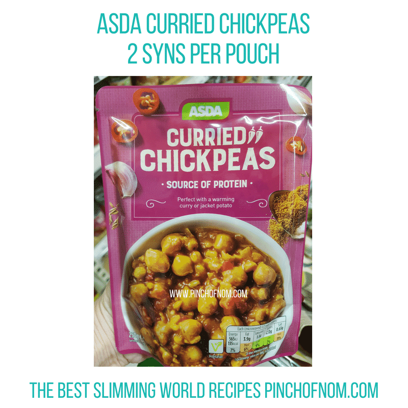 Asda Curried Chickpeas - Pinch of Nom Slimming World Shopping Essentials