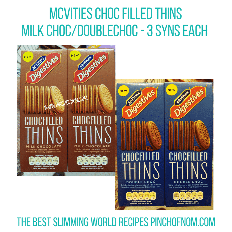 McVities Choc-filled thins - Pinch of Nom Slimming World Shopping Essentials