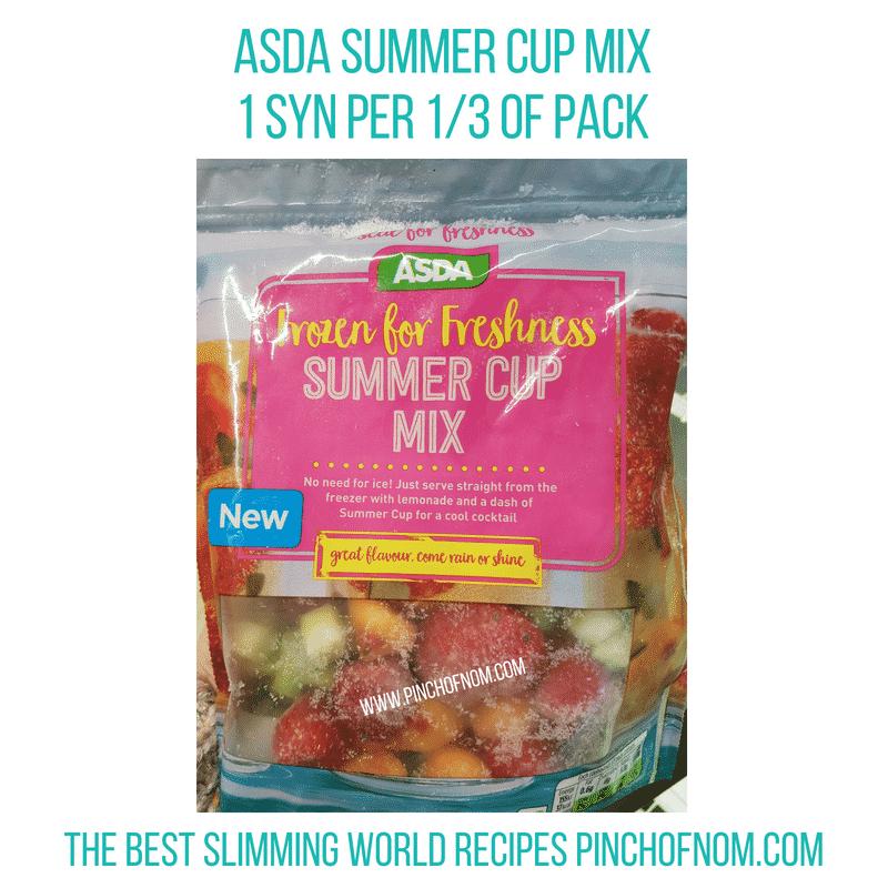 Asda Summer Cup mix - Pinch of Nom Slimming World Shopping Essentials