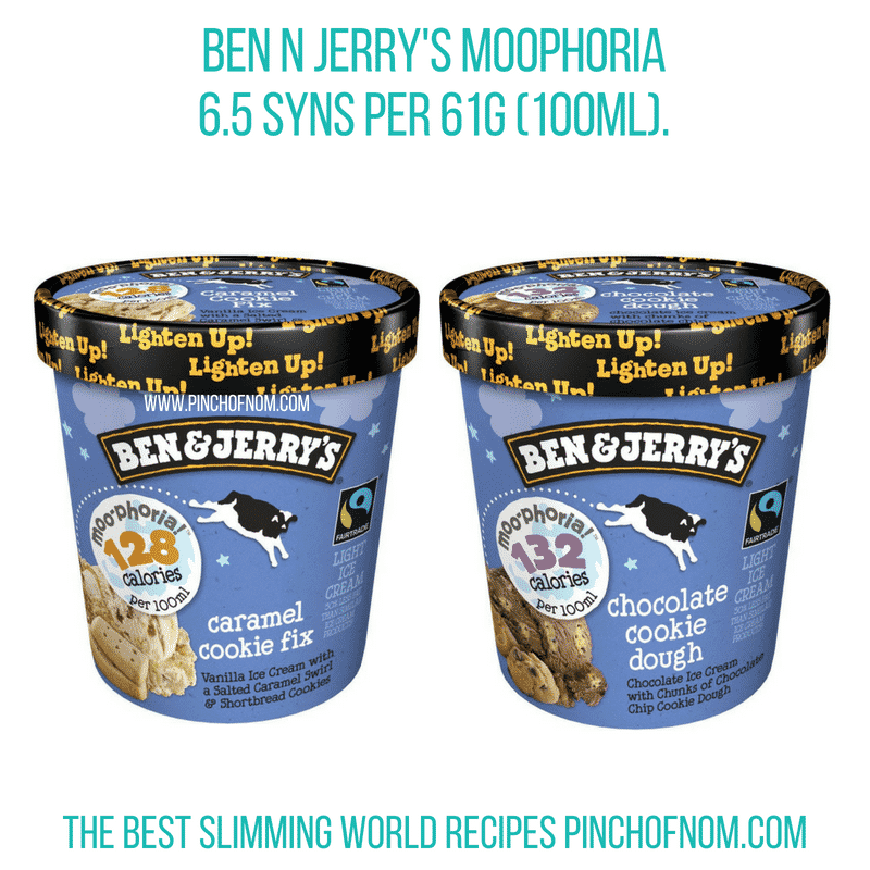 Ben&Jerrys Moophoria - Pinch of Nom Slimming World Shopping Essentials