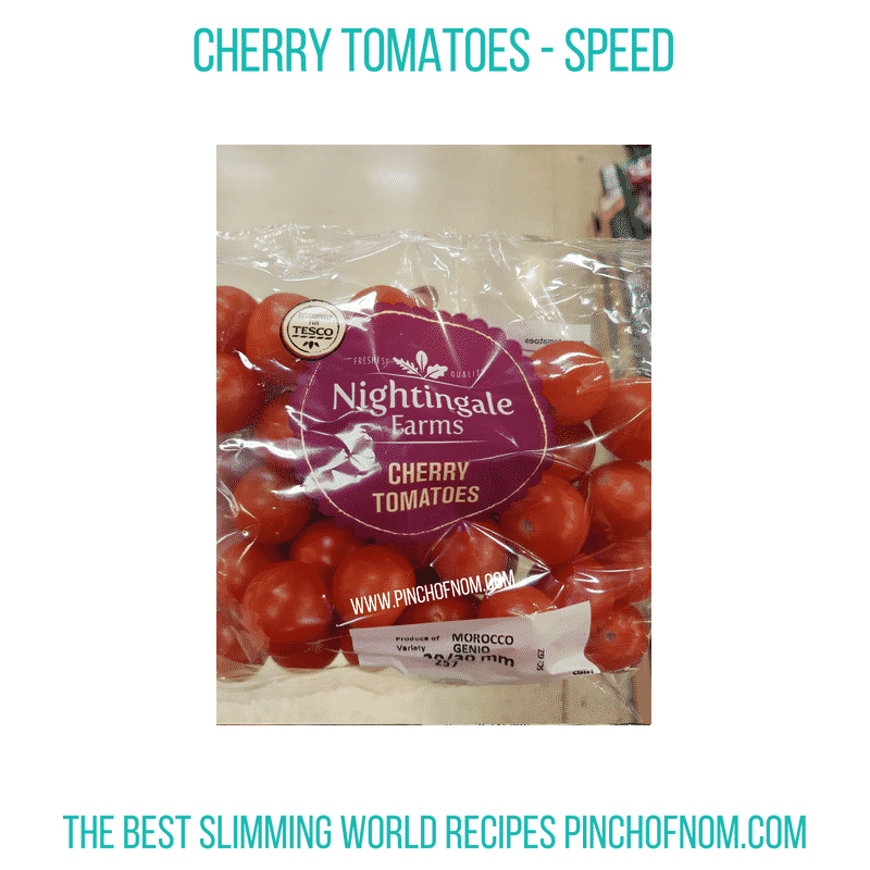 Tesco Cherry Tomatoes - Pinch of Nom Slimming World Shopping Essentials