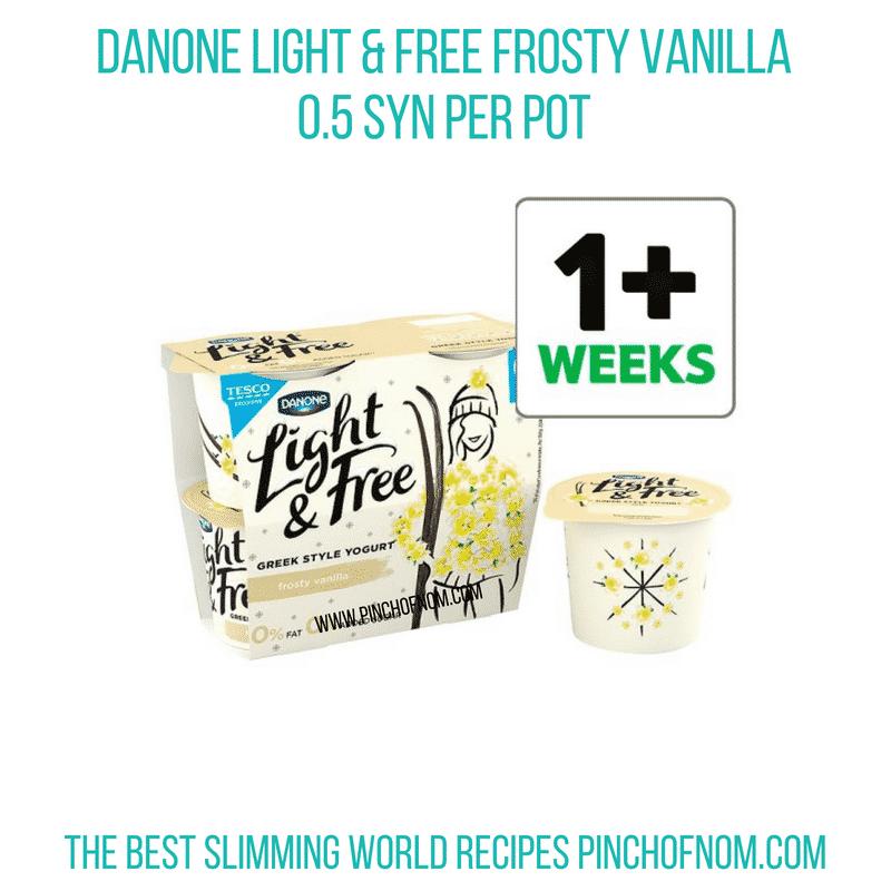 Danone Light & Free Frosty Vanilla - Pinch of Nom Slimming World Shopping Essentials