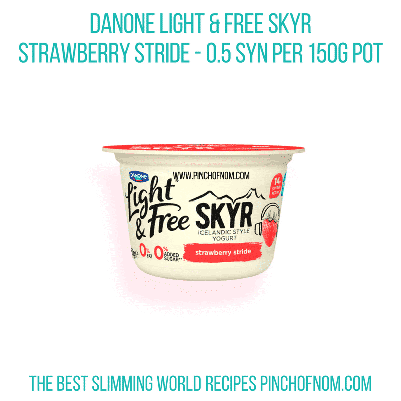 Danone Strawberry stride - Pinch of Nom Slimming World Shopping Essentials
