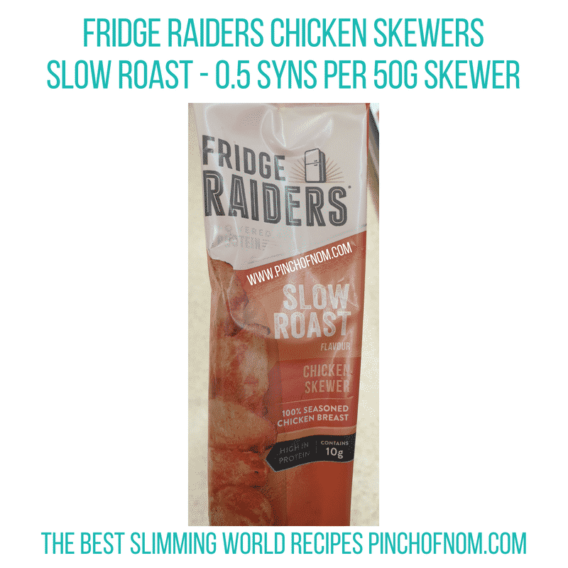 Fridge Raiders Chicken Skewers - Pinch of Nom Slimming World Shopping Essentials