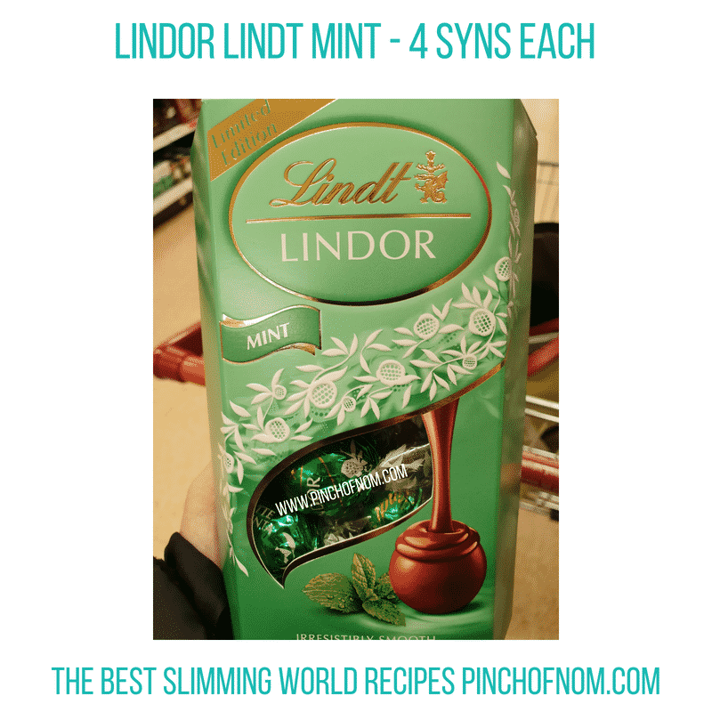 Lindor Lindt Mint - Pinch of Nom Slimming World Shopping Essentials