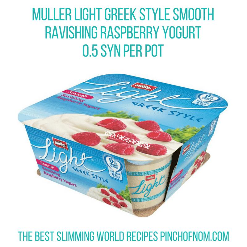 Muller Greek Style Ravishing Raspberry - Pinch of Nom Slimming World Shopping Essentials