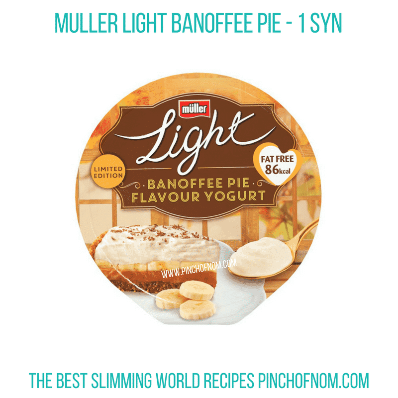 Muller Banoffee - Pinch of Nom Slimming World Shopping Essentials