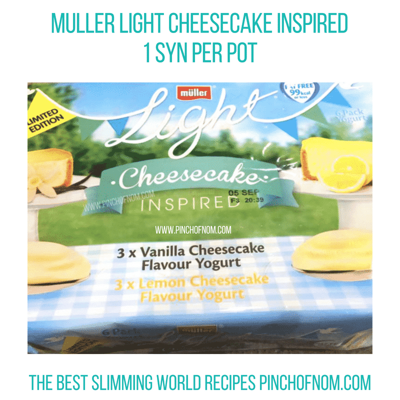 Muller Light Cheesecake Inspired - Pinch of Nom Slimming World Shopping Essentials