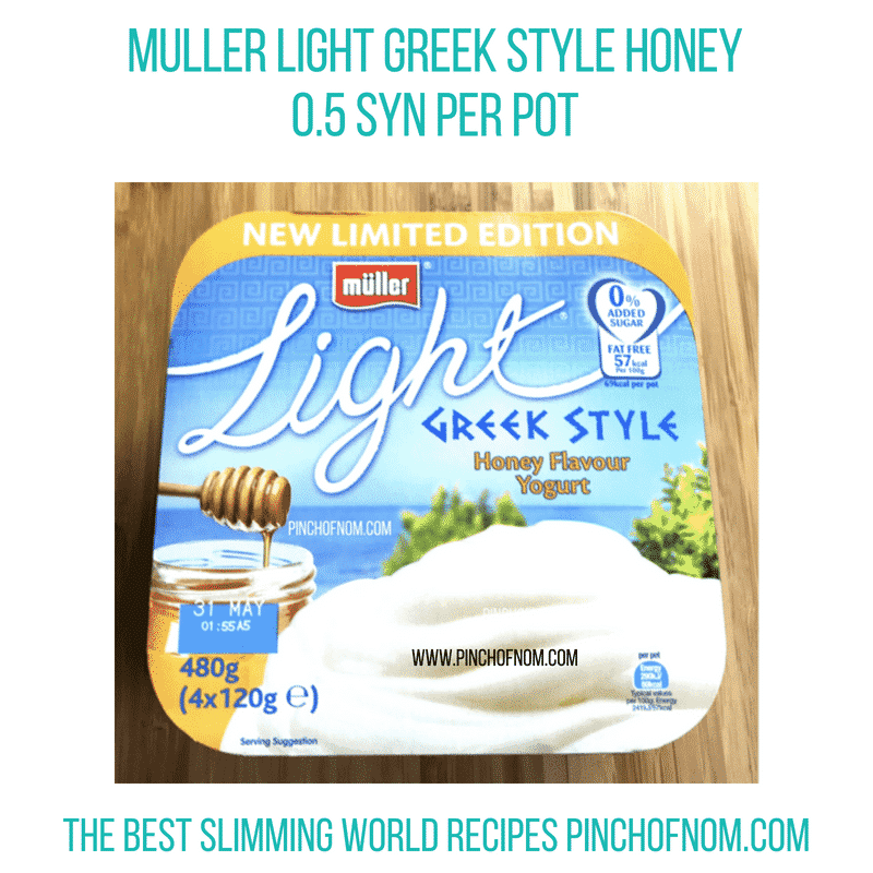 Muller Light Greek Style Honey - Pinch of Nom Slimming World Shopping Essentials