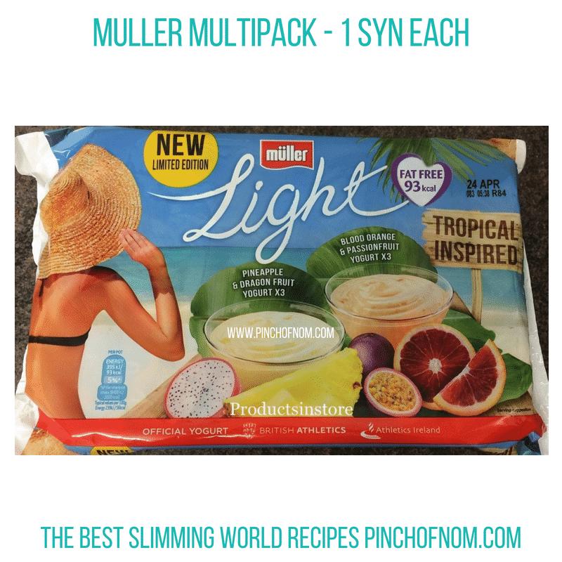 Mullerlight dragonfruit multi Pinch of Nom Slimming World Shopping Essentials