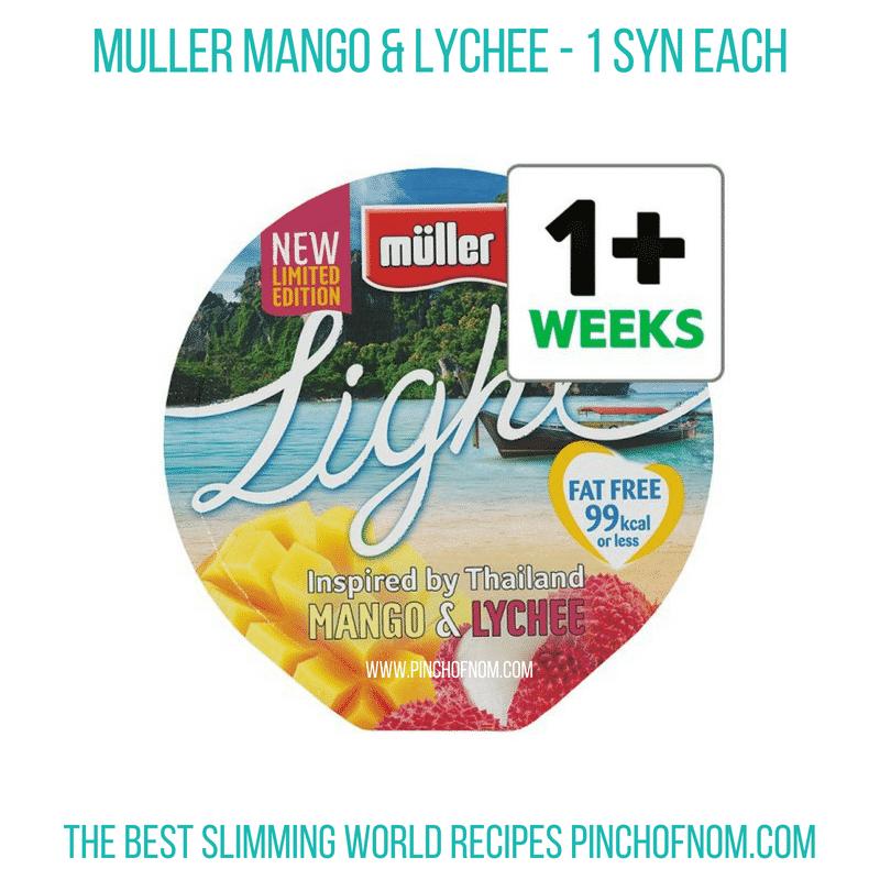 Muller mango lychee - Pinch of Nom Slimming World Shopping Essentials