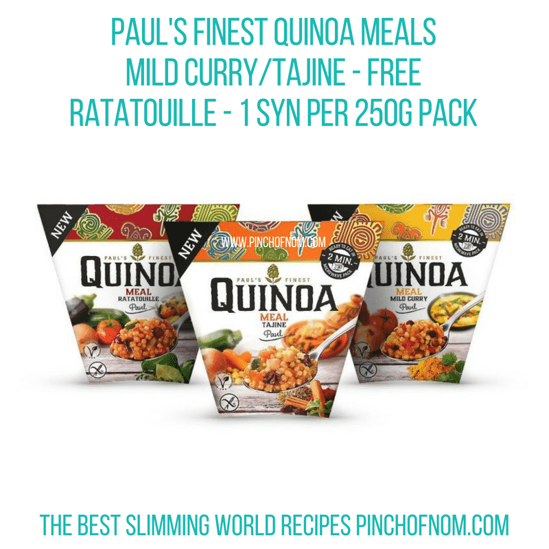 Pauls Finest Quinoa Meals - Pinch of Nom Slimming World Shopping Essentials