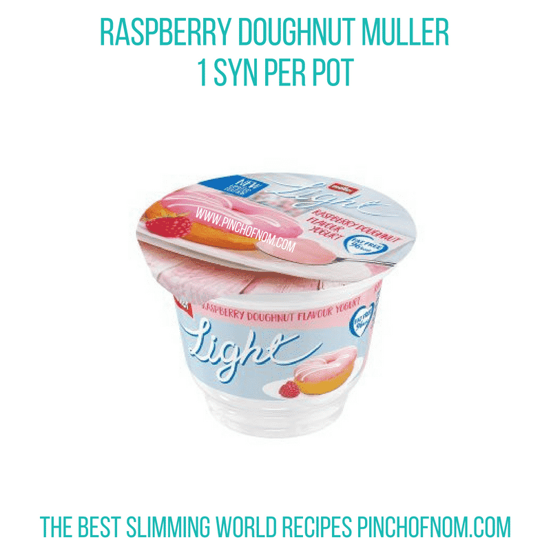 Raspberry Doughnut Muller - Pinch of Nom Slimming World Shopping Essentials