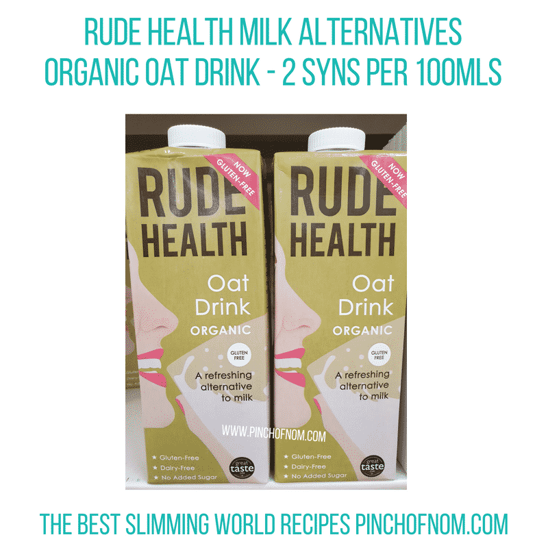 Rude Health Oat Drink - Pinch of Nom Slimming World Shopping Essentials