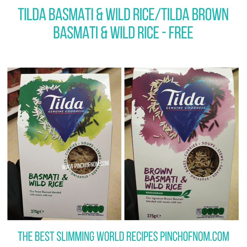 Tilda basmati wild rice Pinch of Nom Slimming World Shopping Essentials
