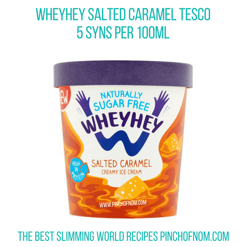 WheyHey Salted Caramel 500ml - Pinch of Nom Slimming World Shopping Essentials