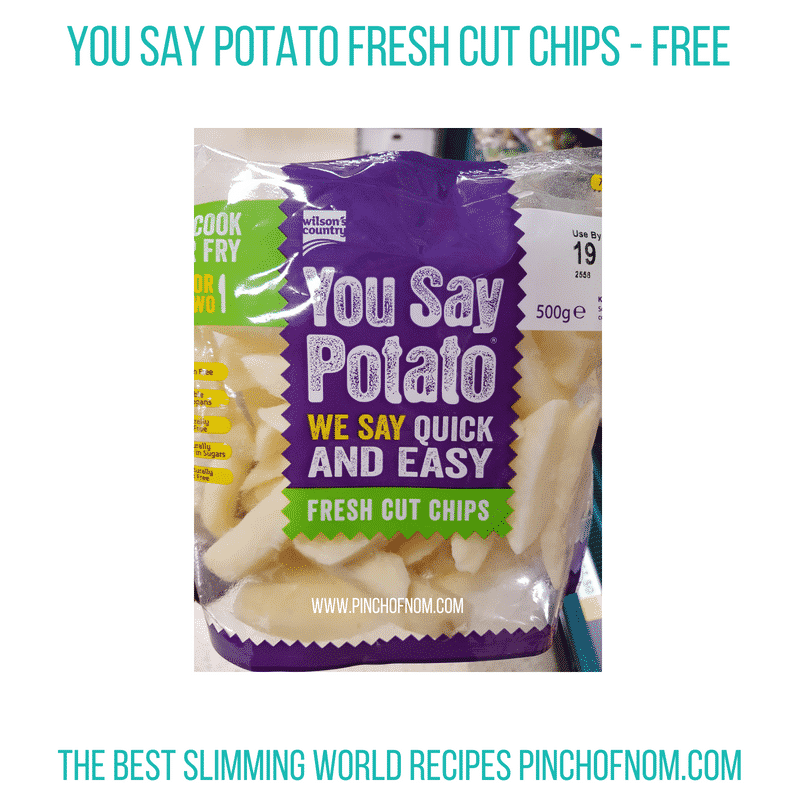 You Say Potato Fresh Cut Chips - Pinch of Nom Slimming World Shopping Essentials