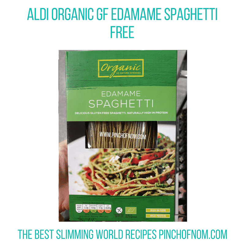 Aldi Edamame Spag - Pinch of Nom Slimming World Shopping Essentials