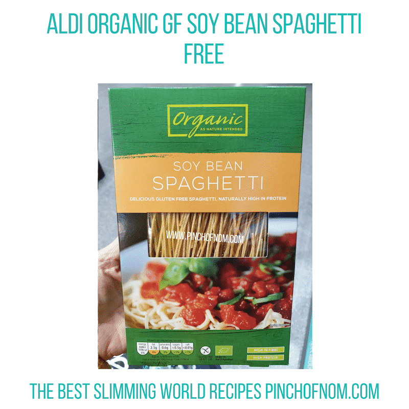 Aldi Soy Bean Spag - Pinch of Nom Slimming World Shopping Essentials