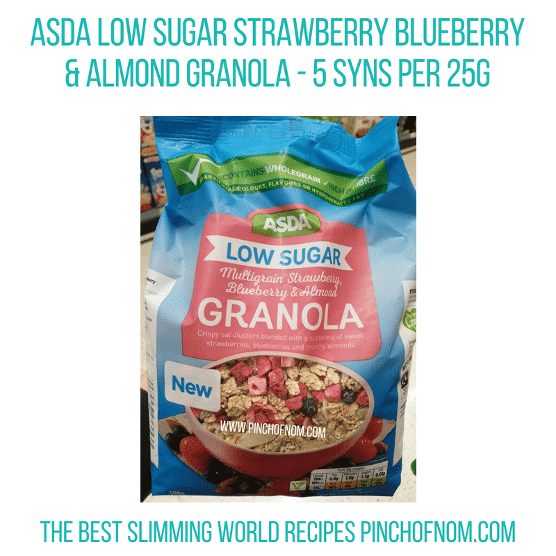 Asda Almond Granola - Pinch of Nom Slimming World Shopping Essentials