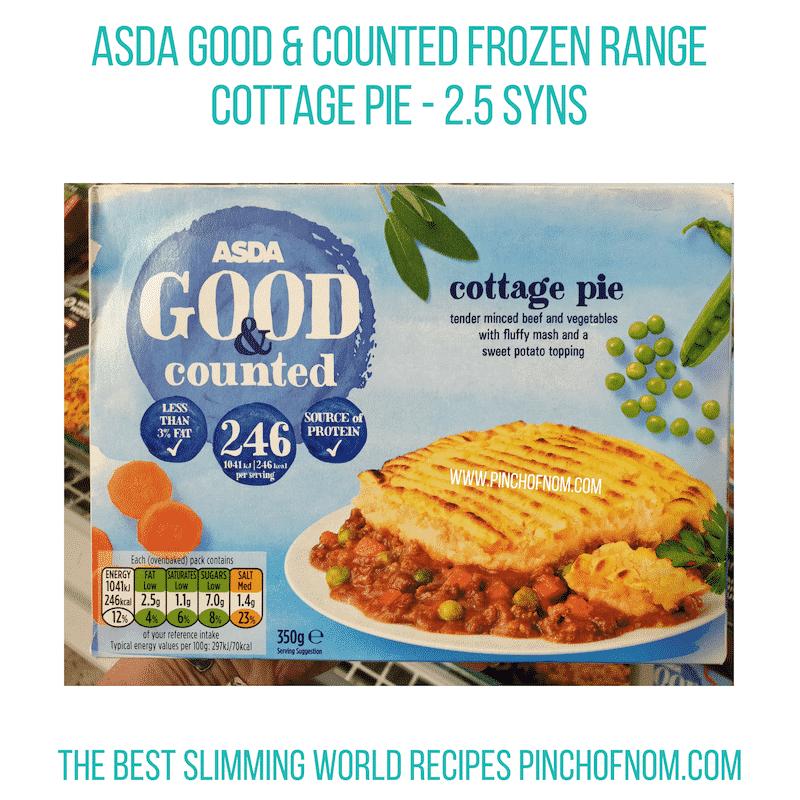 Asda Cottage Pie - Pinch of Nom Slimming World Shopping Essentials