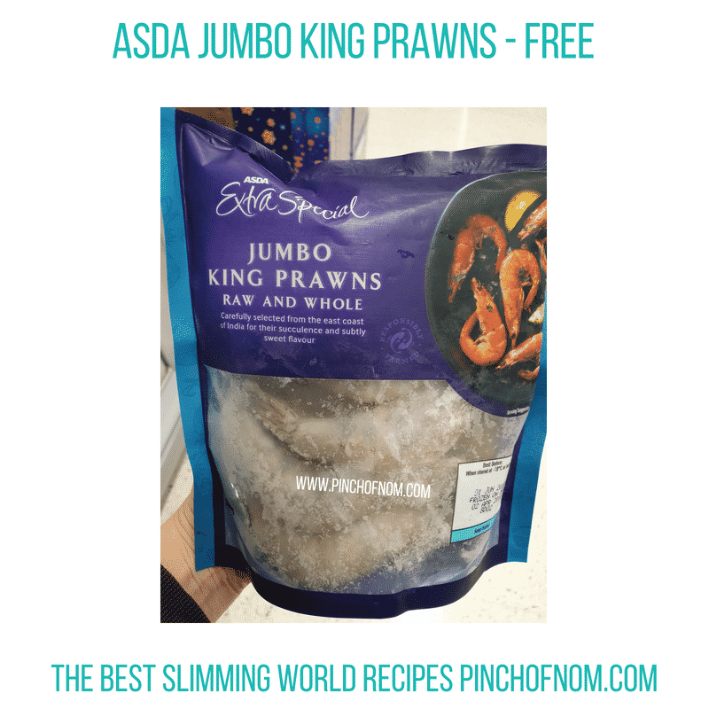 Asda Jumbo King Prawns - Pinch of Nom Slimming World Shopping Essentials