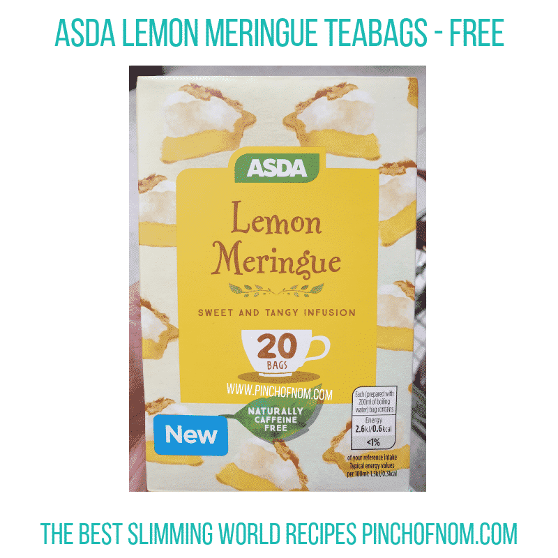 Asda Lemon Meringue tea bags - Pinch of Nom Slimming World Shopping Essentials