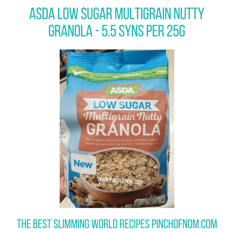 Asda Nutty Granola - Pinch of Nom Slimming World Shopping Essentials