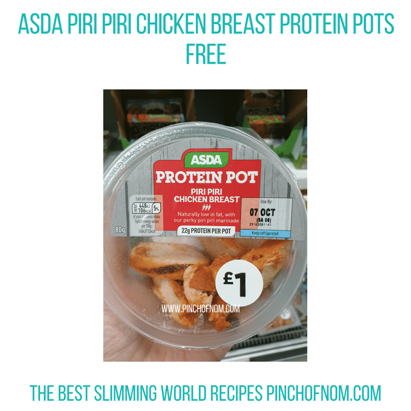 Asda Chicken Breast protein pots - Pinch of Nom Slimming World Shopping Essentials