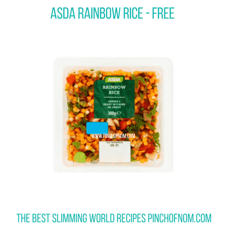 Asda Rainbow Rice - Pinch of Nom Slimming World Shopping Essentials