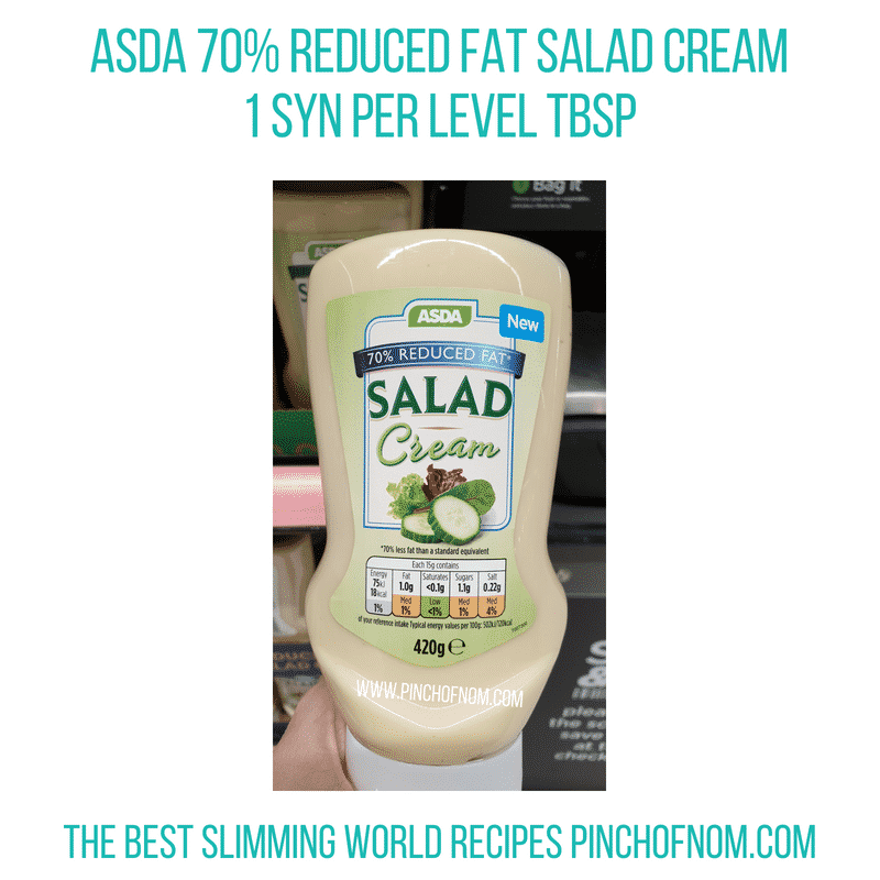 Asda 70% Salad Cream - Pinch of Nom Slimming World Shopping Essentials