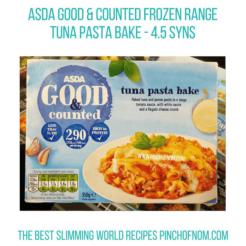 Asda Tuna Pasta Bake - Pinch of Nom Slimming World Shopping Essentials