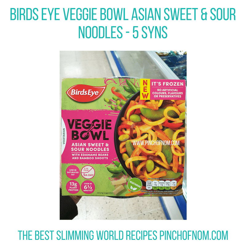 Birds Eye Veggie Bowl Sweet & Sour - Pinch of Nom Slimming World Shopping Essentials