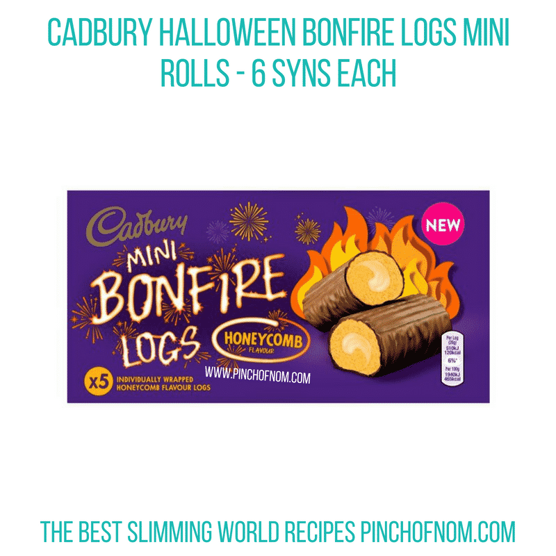 Cadbury Halloween logs - Pinch of Nom Slimming World Shopping Essentials