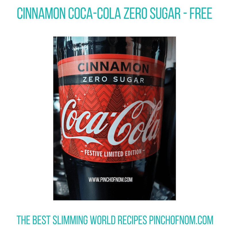 Cinnamon Coca Cola Zero - Pinch of Nom Slimming World Shopping Essentials