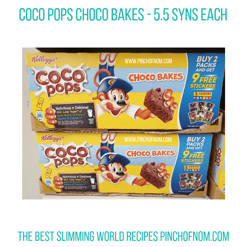 Coco Pops Bakes - Pinch of Nom Slimming World Shopping Essentials