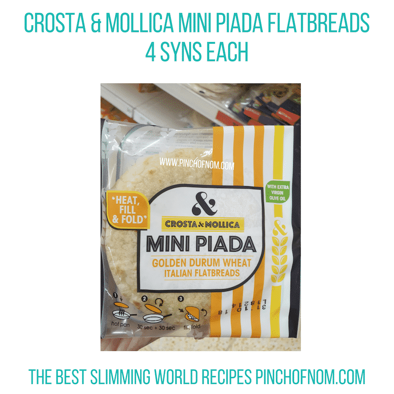 Crosta & Mollica Piada - Pinch of Nom Slimming World Shopping Essentials