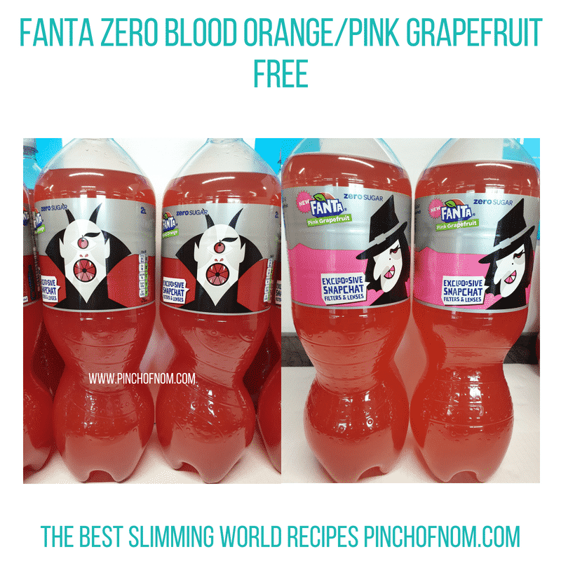 Fanta Zero new flavours - Pinch of Nom Slimming World Shopping Essentials