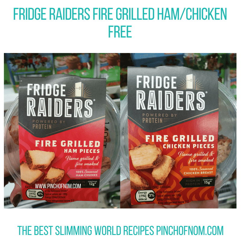 Fridge Raiders fire grilled ham/chicken - Pinch of Nom Slimming World Shopping Essentials